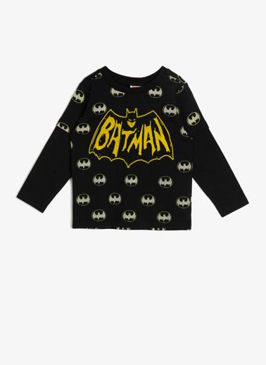 Koton Kids Batman Lisanslı T-Shirt Siyah